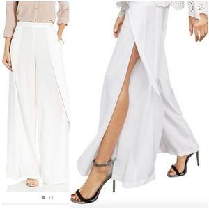 BCBGMaxAzria Pants & Jumpsuits - BCBGMaxAzria Michael Wide Leg Slit Pants, Size L